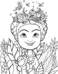 Resultado de imagen para frida kahlo coloring book | dibujos e ...
