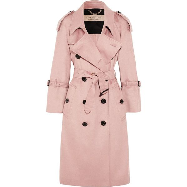 Burberry The Lakestone Cashmere Trench Coat 1 970 Liked On Polyvore Featuring Outerwear Coats Jack Trenchcoat Frauen Burberry Trenchcoat Rosa Trenchcoat