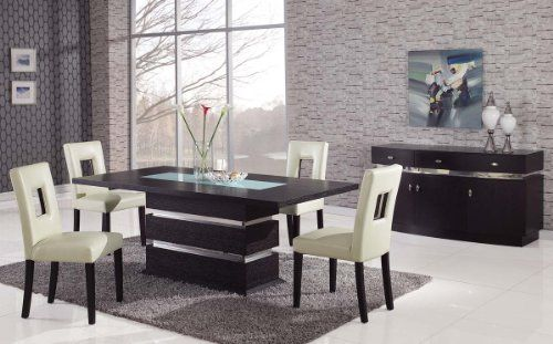 Global Furniture Usa G072dinset Bg G072 Dining Set Beige