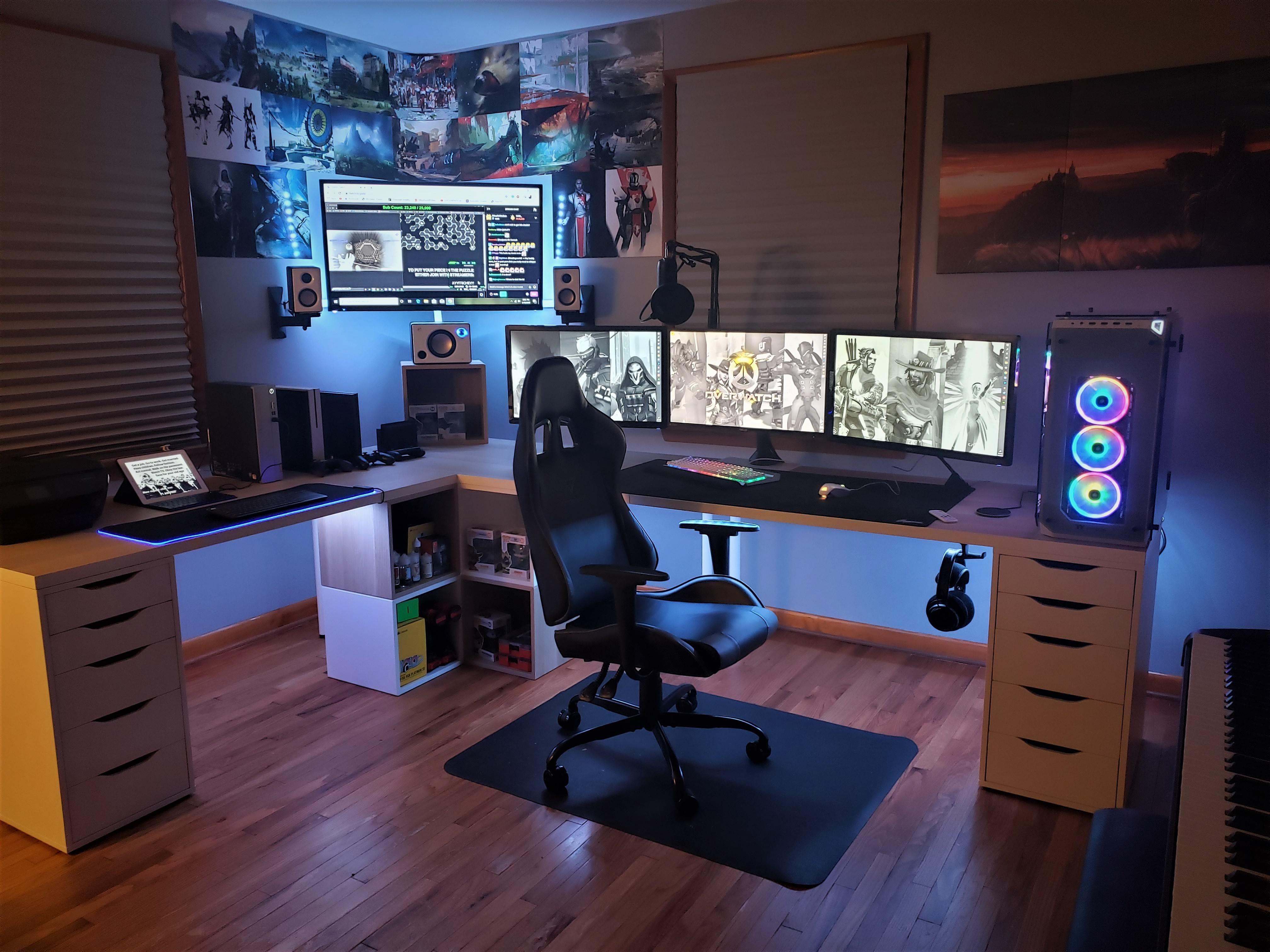 All Ikea L Desk In 2020 Game Room Design Bedroom Setup Home Office Setup