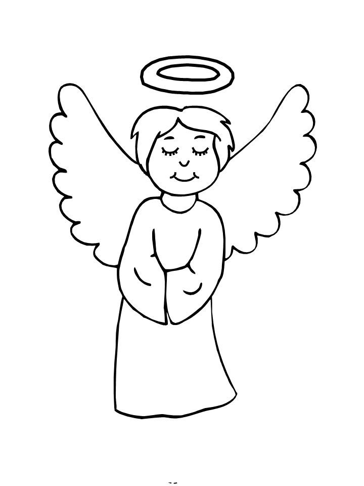Coloring Pages Angels Kids | Coloring Pages