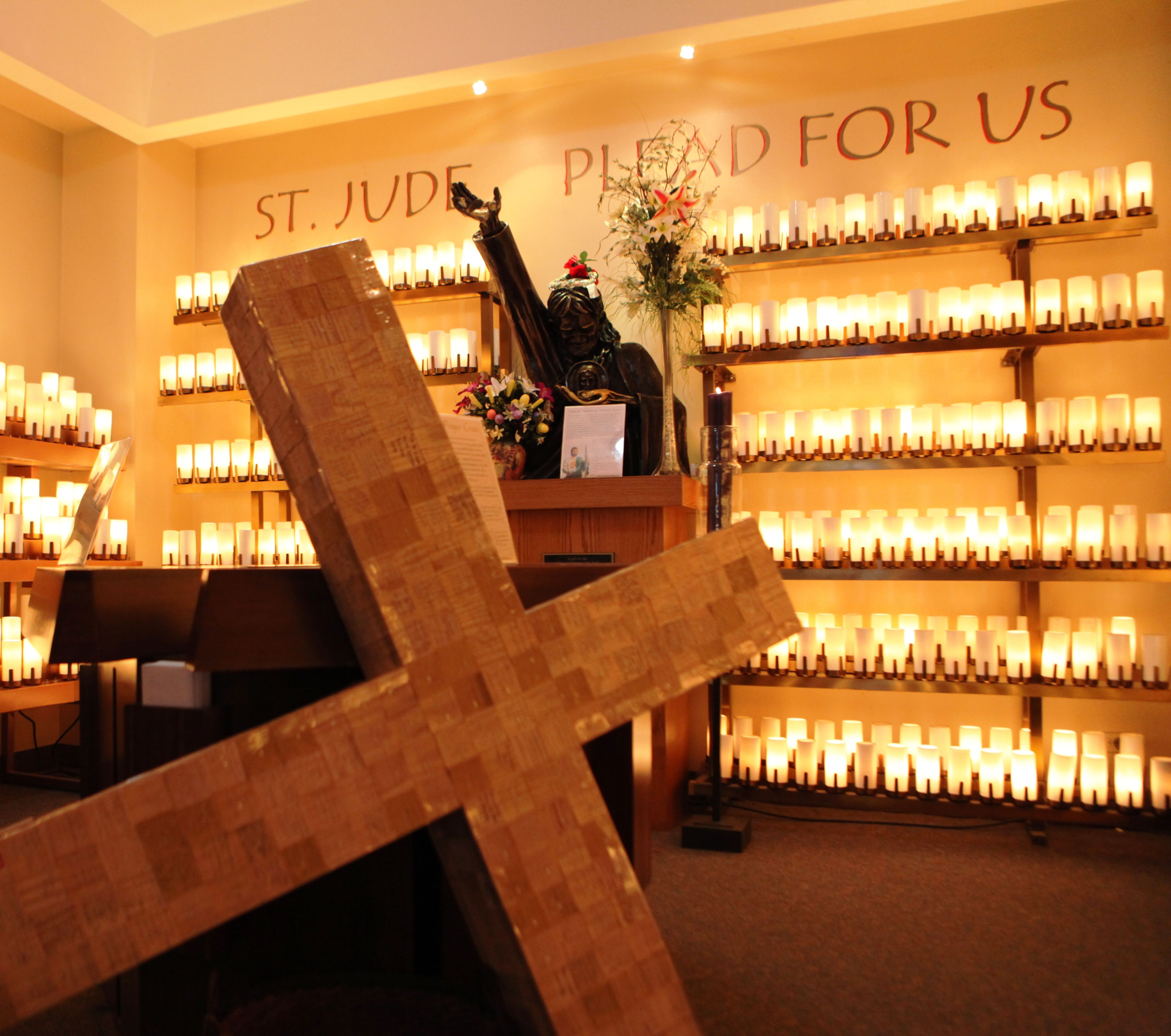 In the coming days, we will begin preparations for Holy Week at the National Shrine of St. Jude. It is not too late to send your prayers and petitions to the National Shrine for our special wooden prayer cross. When you do, your petitions will be represented by a small wooden tile that will be combined with others to create a large prayer cross.