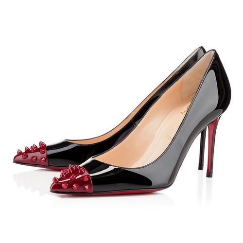 christian louboutin pigalle spikes 80mm pumps black