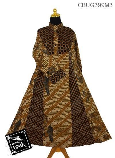 Baju Batik Gamis Motif Udan Liris  8c3fe46610