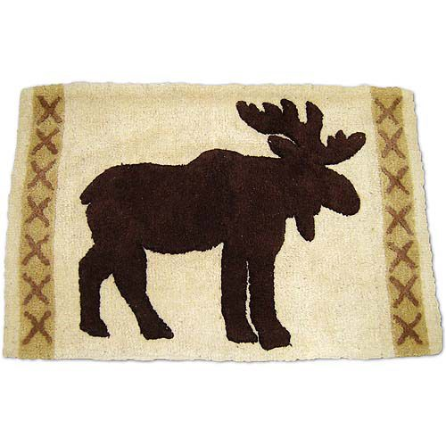 Moose Themed Rugs: Silhouette Lodge Rug... My Bathroom Decor Is Going To End