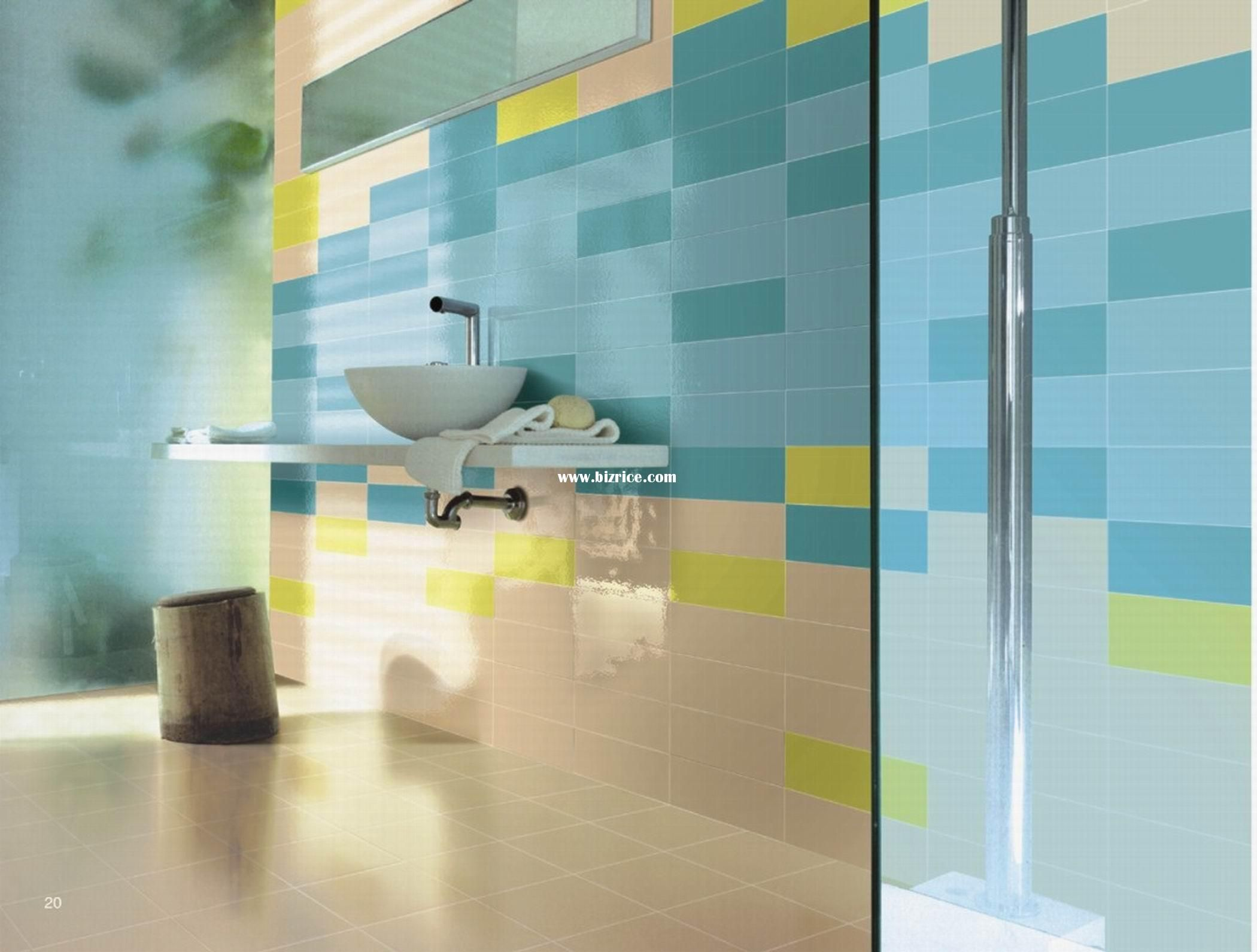 Tiles are a great way to bring colour and style to a bathroom ...