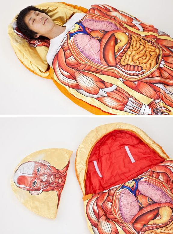 Anatomical Model Sleeping Bag... i wish i had this for anatomy class ...