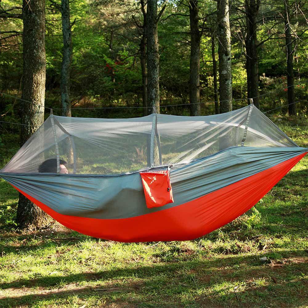 Jardim cama de nylon pendurados e mosquito net selva viagem barraca