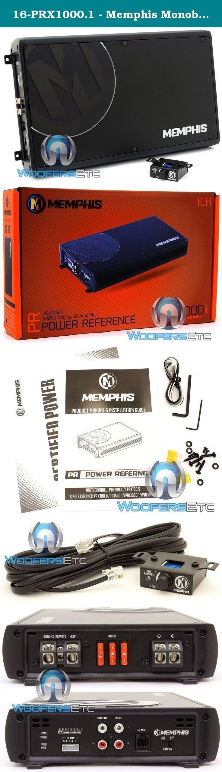 MEMPHIS PRX1000.1 AMP MONOBLOCK 2000W MAX SUBWOOFERS SPEAKERS BASS AMPLIFIER NEW