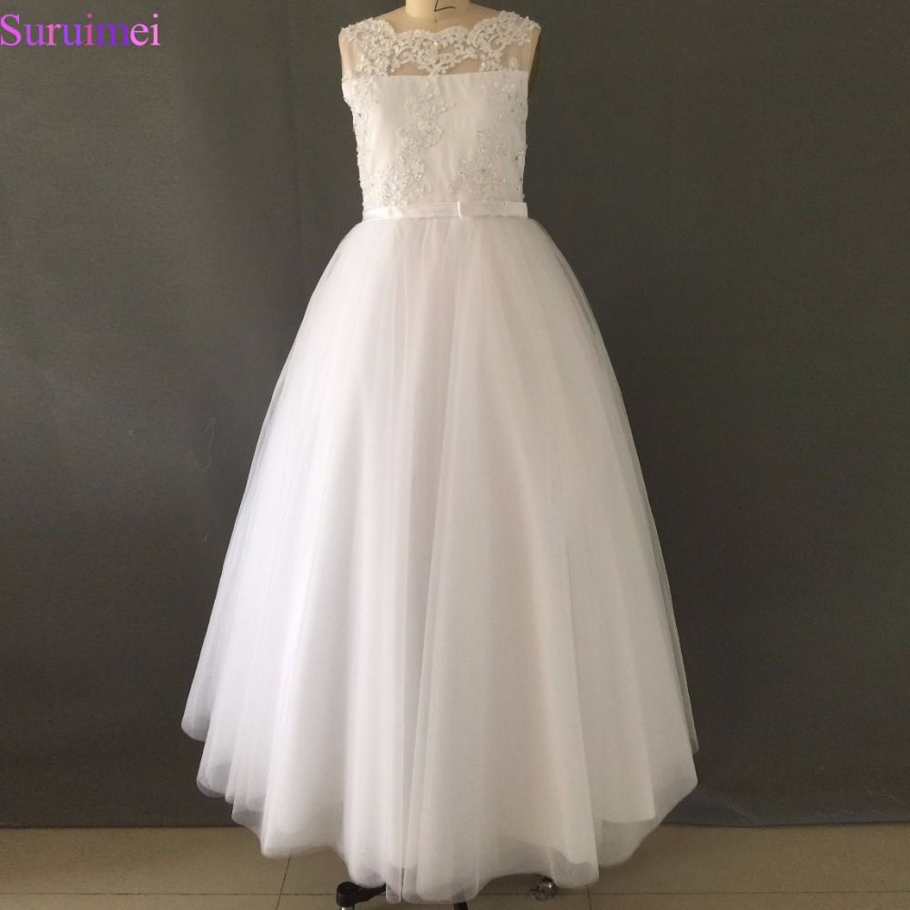 Click to buy ucuc white ivory first communion dresses cute little