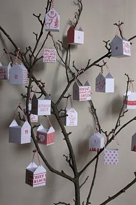 Printable Paper Boxes for an Advent Tree