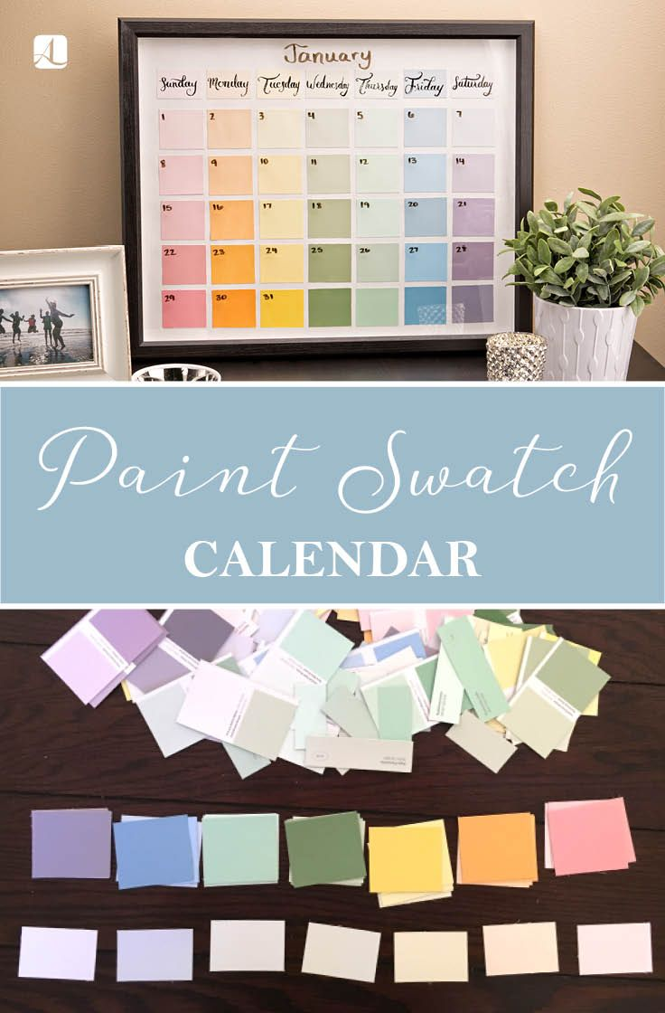 Photo of Paint Chip Calendar – American Lifestyle Magazine