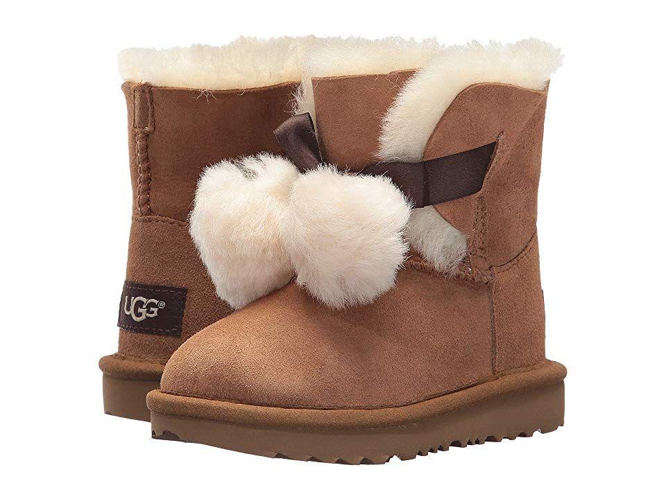 bda57863656 UGG Kids Gita (Toddler/Little Kid) (Chestnut) Girls Shoes. Nothing ...
