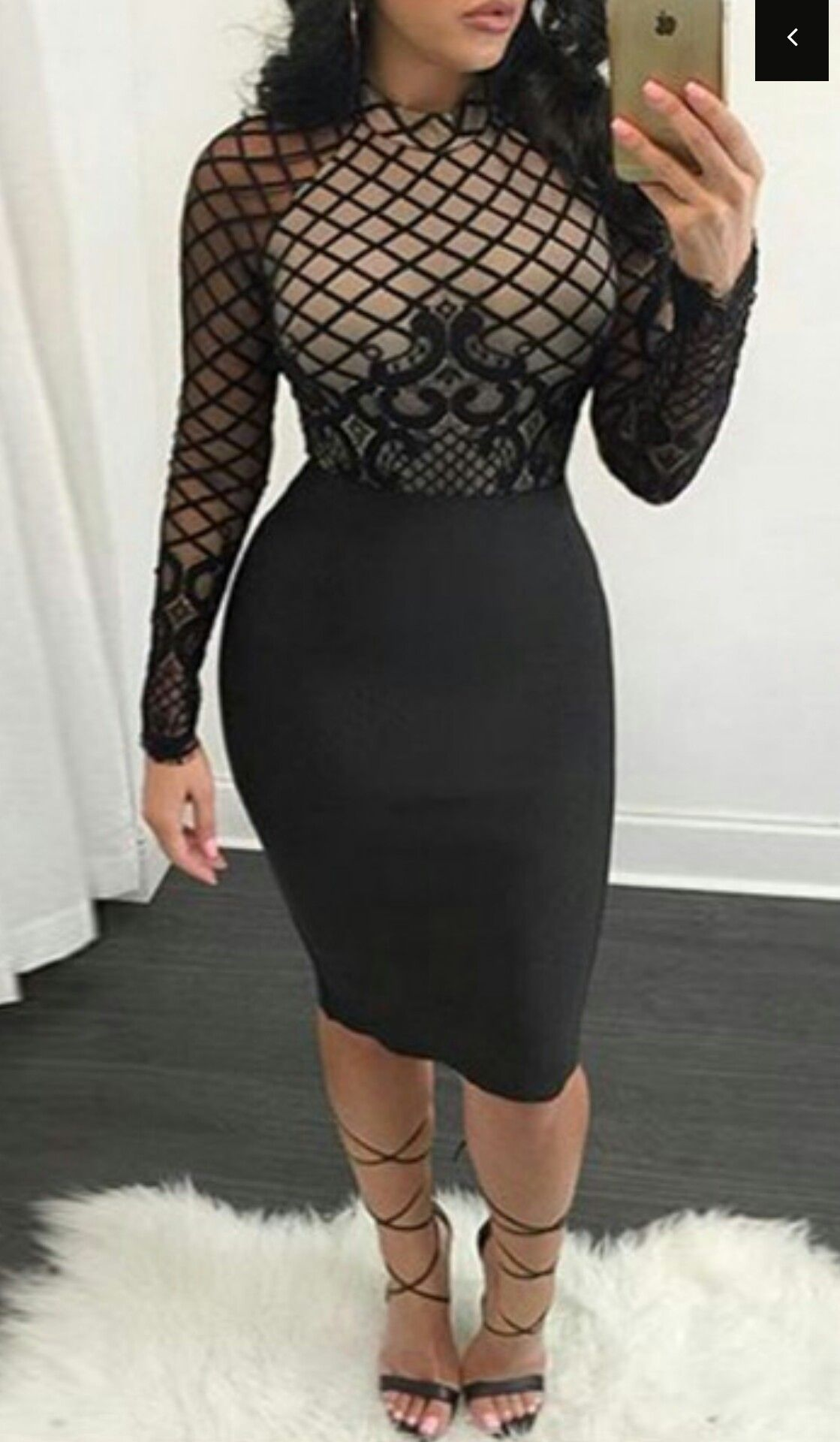 Black lace long sleeve roaso fashion amour pinterest