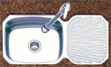 Oliveri Stainless Steel Sink, Single Basin With R/L Drainboard, Down  Undermount   Coupon Warm Coat