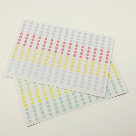Mini round transparent stickers for planners calendars or diaries made to order on etsy