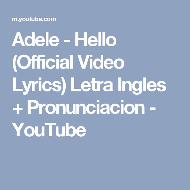 INGLÊS COM MÚSICA #9 – Hello (Adele)
