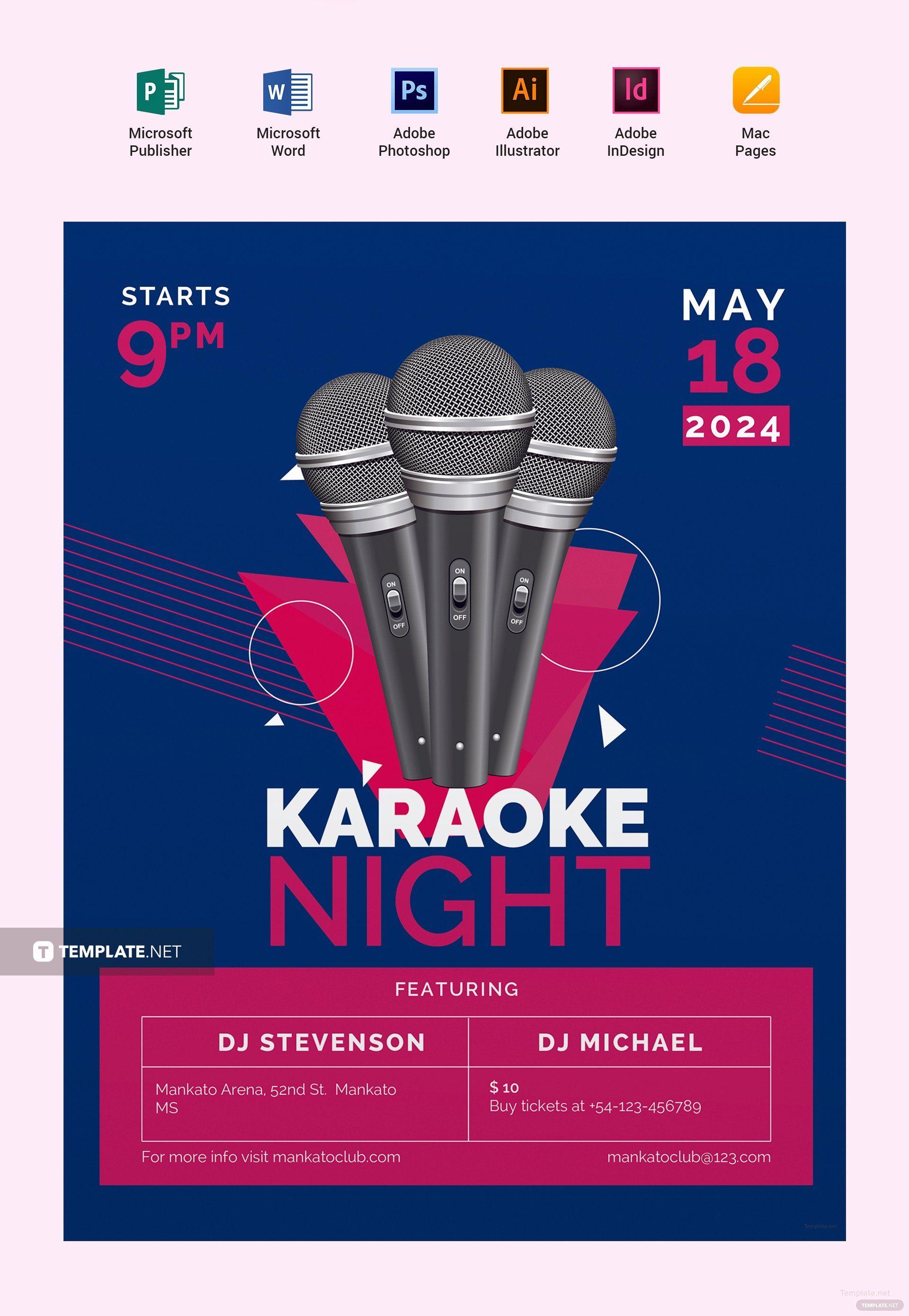 Templates For Flyers Free Fresh Free Karaoke Flyer