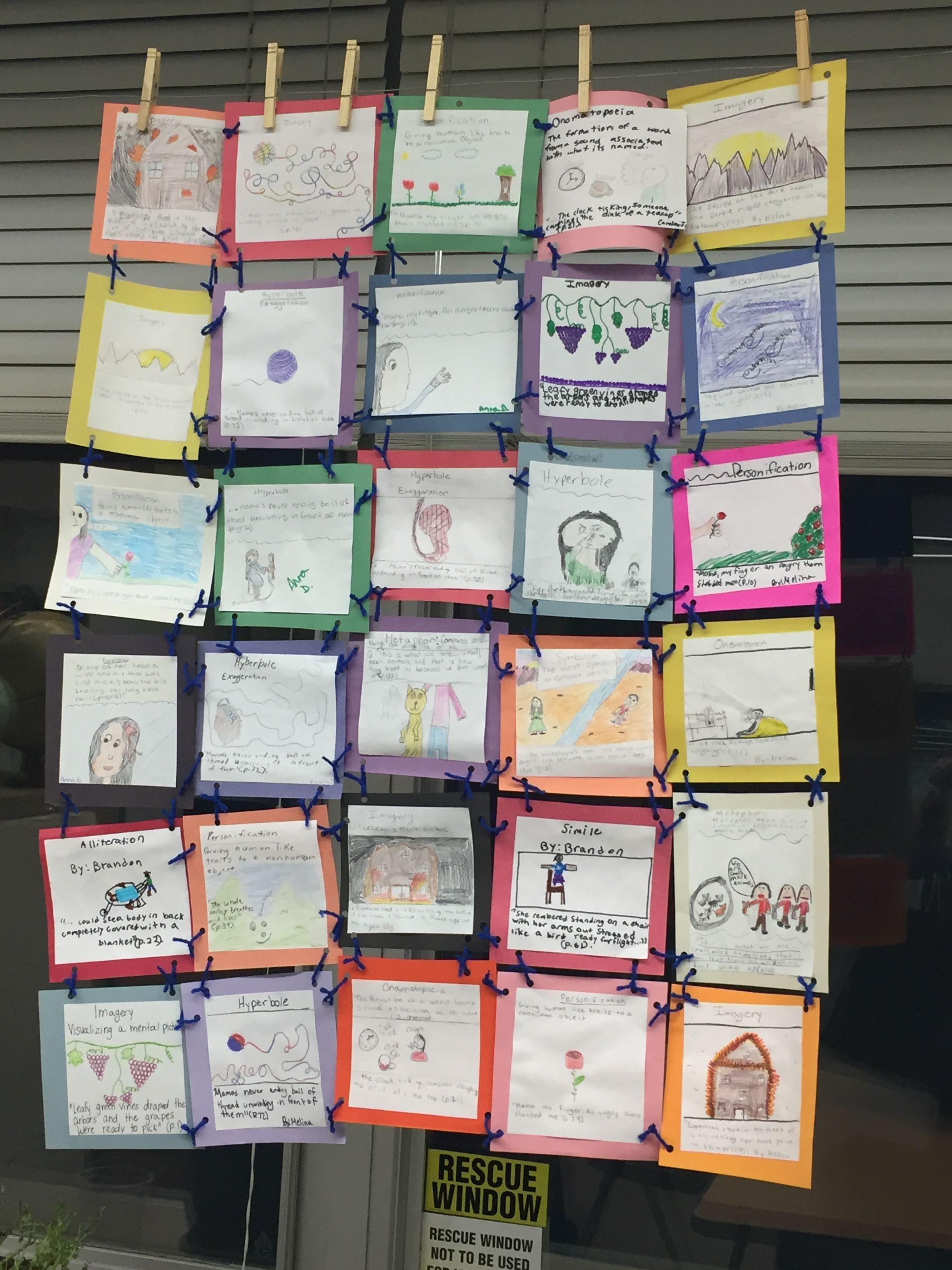 Our Esperanza Rising Figurative Language Quilt 5th Grade