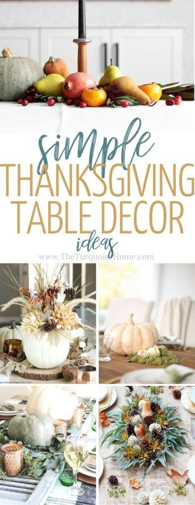 How to Decorate Your Table for Thanksgiving Dinner #thanksgivingtablesettings