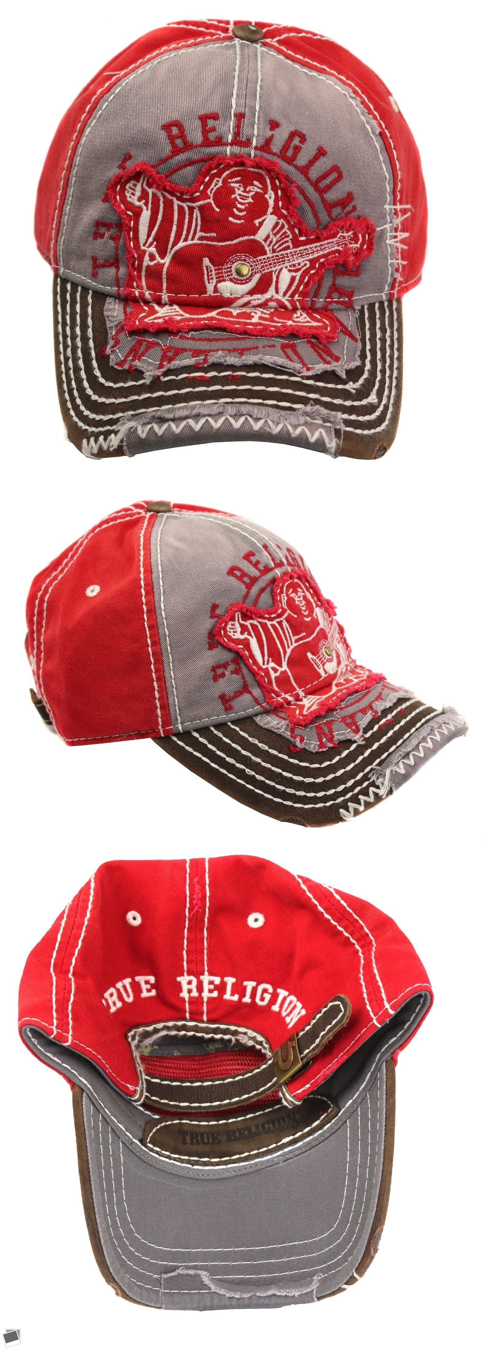67cbe7c94eb Hats 163543  True Religion Men S Premium Vintage Distressed Buddha Trucker  Hat Cap Tr1101 Red -  BUY IT NOW ONLY   49.99 on eBay!