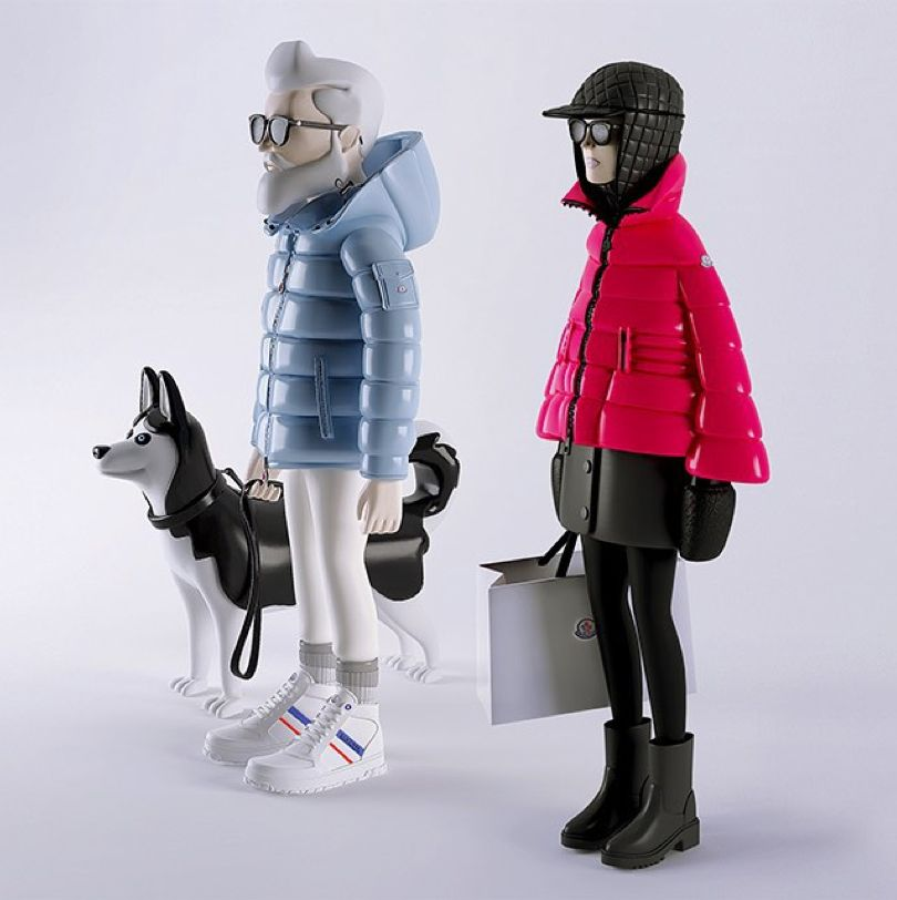mr-mrs-moncler-dolls copy Like Pinterest Moncler, Toy art and - copy blueprint engines bp3501ctc1