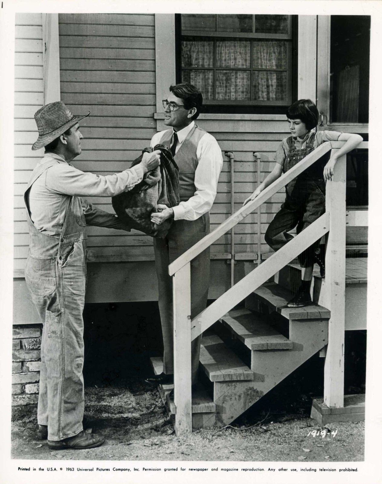 RARE To Kill A Mockingbird 1963 Original Photo Still Gregory Peck Mary  Badham | EBay