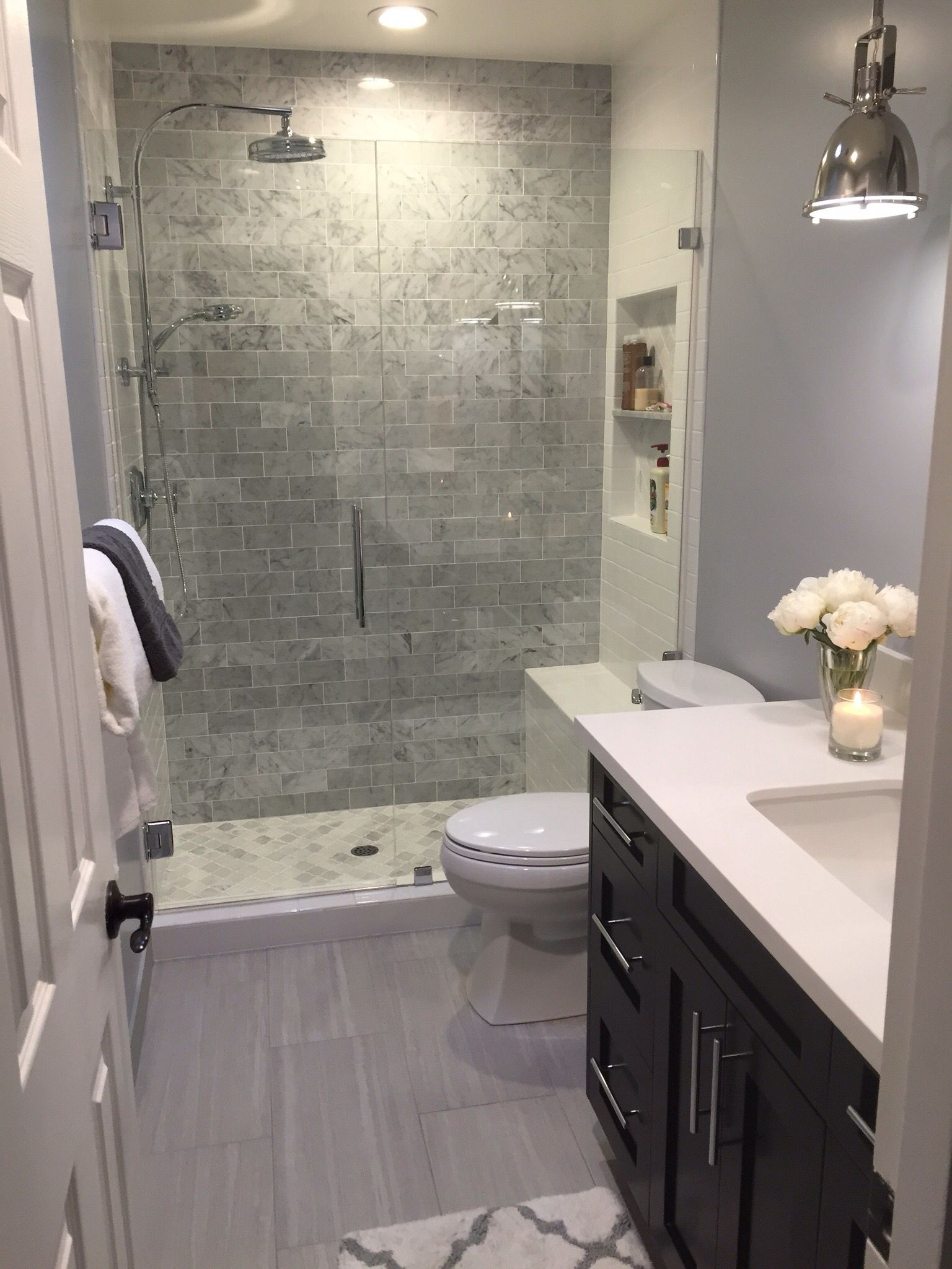 The Finished Product Small Bathroom Remodel Bathrooms Remodel Bathroom Layout