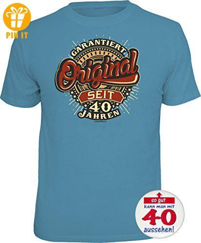 1841 Geschenke Set 40. Geburtstag: T Shirt 40 JAHRE   GARANTIERT ORIGINAL