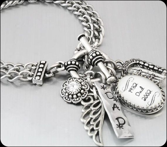 Memorial Custom Charm Bracelet, Remembrance Jewelry, Memorial Jewelry, Memory Jewelry, Custom Jewelry, with 3 Charms