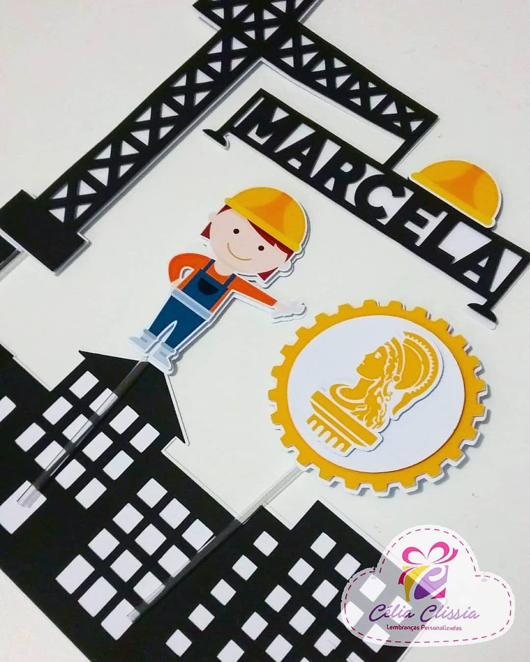 Topo De Bolo Scrap Engenharia Engenheira Civil Scrapbook