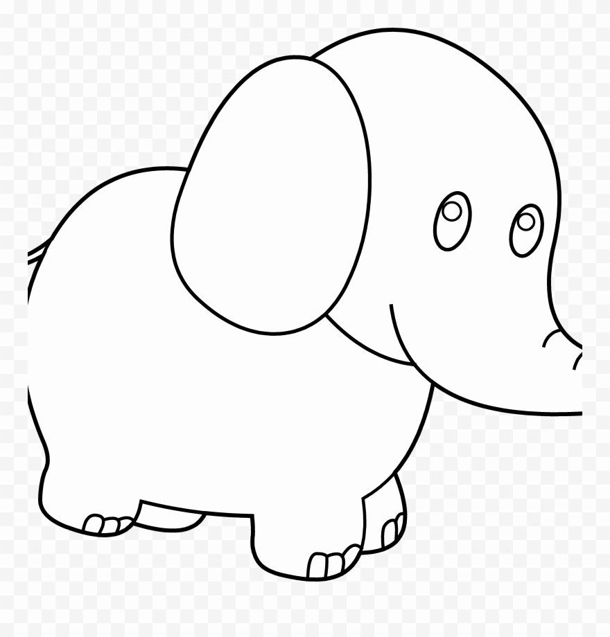 Elephant Face Coloring Page Di 2020