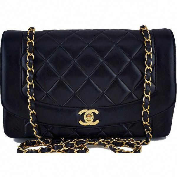 3ff2ddcbbf8c1b Pre-Owned Chanel 10in. Black Vintage Quilted Classic