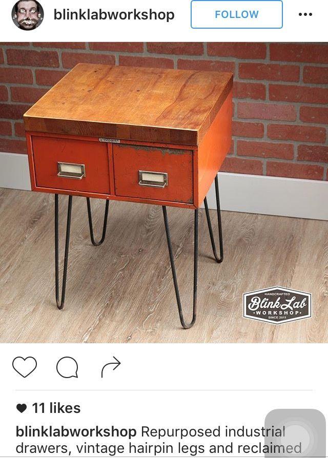 Use Old Card Catalog For End Tables Furniture Diy Vintage Industrial Furniture Industrial Design Furniture