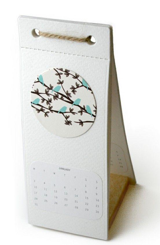 Stand Up Mini Desk Cal Design Calendar Agenda Calendar Design