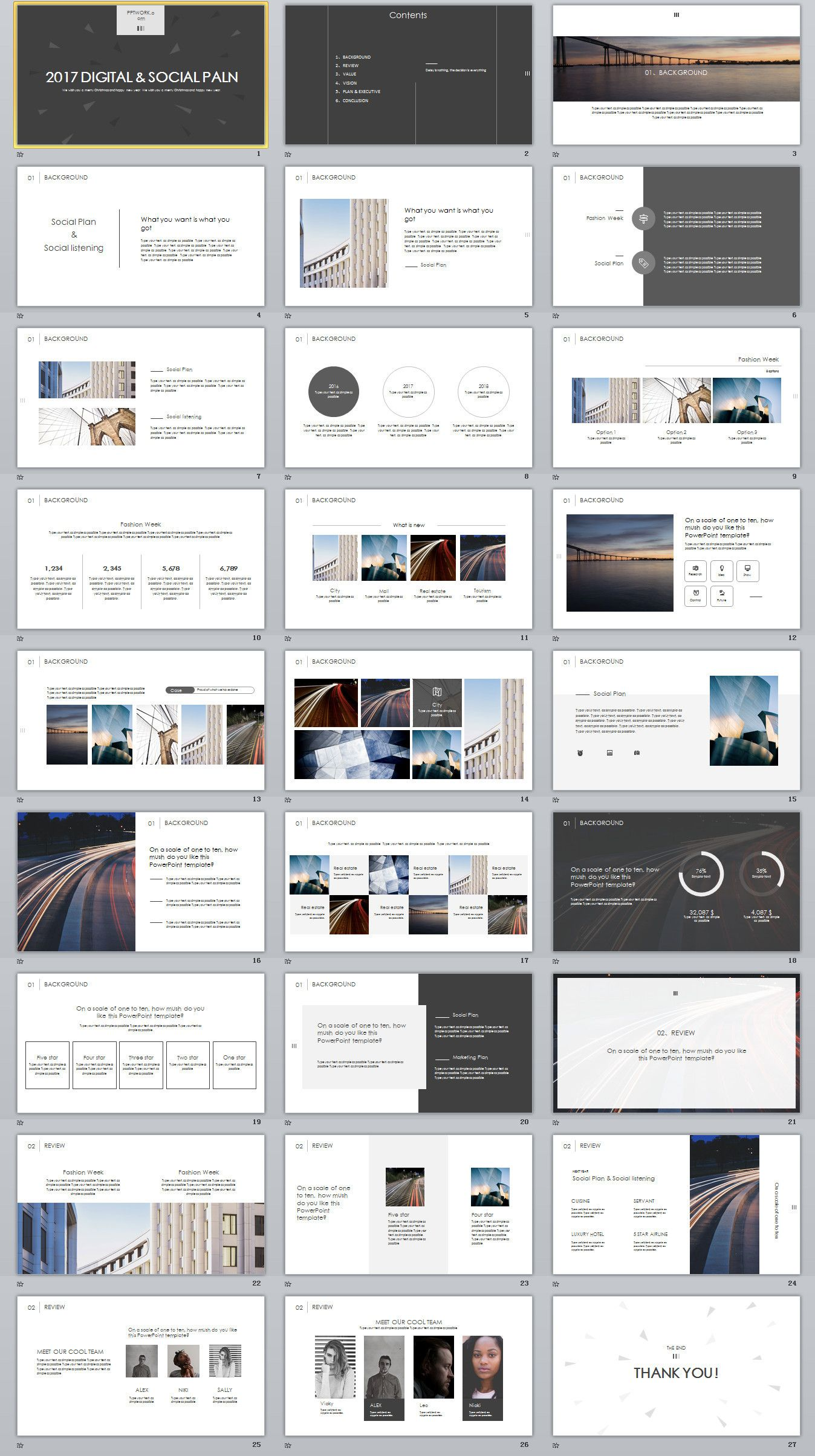 27+ White Social Plan Slides PowerPoint templates on Behance ...