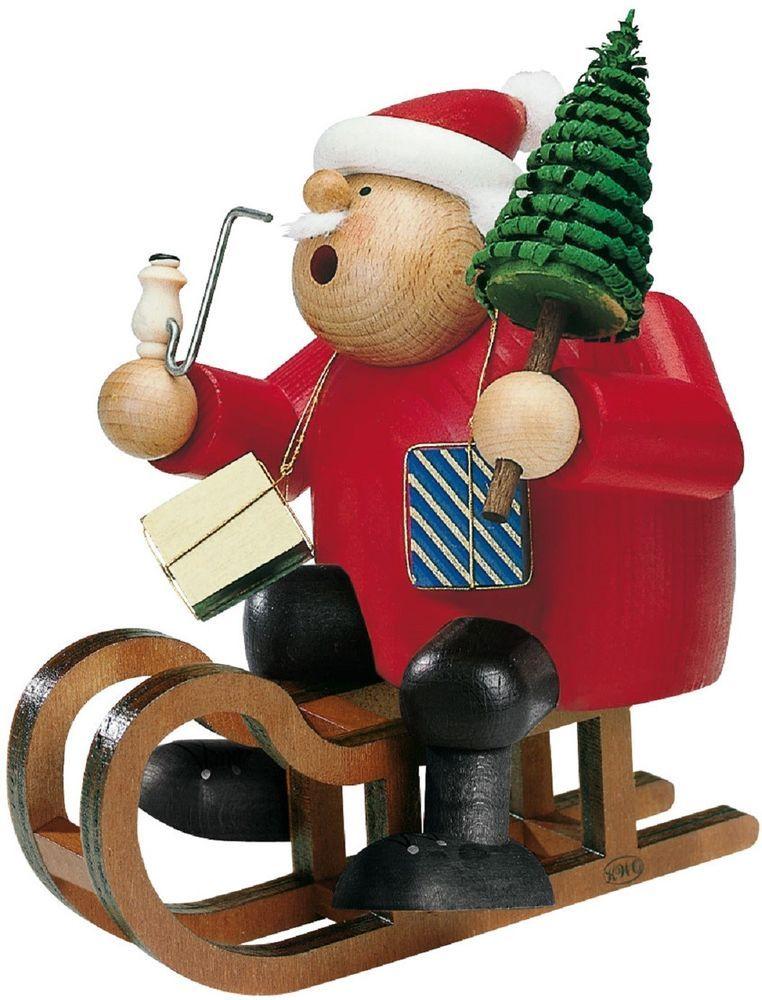 German Incense Smoker KWO Father CHRISTMAS with Sled