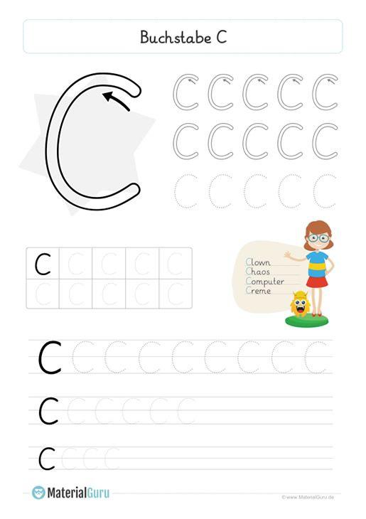 neu ein kostenloses deutsch arbeitsblatt zum buchstaben c f r die grundschule auf dem die. Black Bedroom Furniture Sets. Home Design Ideas