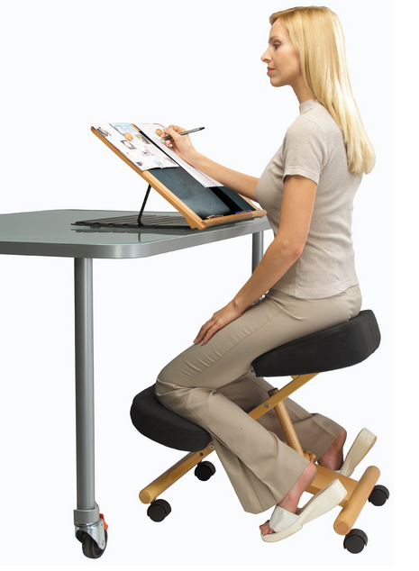 Ergonomic Posture Kneeling Chair Ophthalmology Optometry Exam Decorating Desk