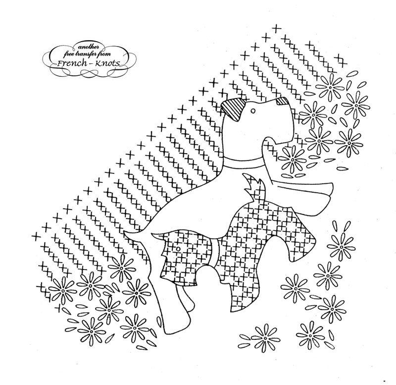 Scotty dog quilt patterns free scotty dog embroidery transfer scotty dog embroidery transfer pattern with cross stitch patterning dt1010fo