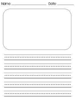 Primary Writing Template In 2020 Primary Writing Writing