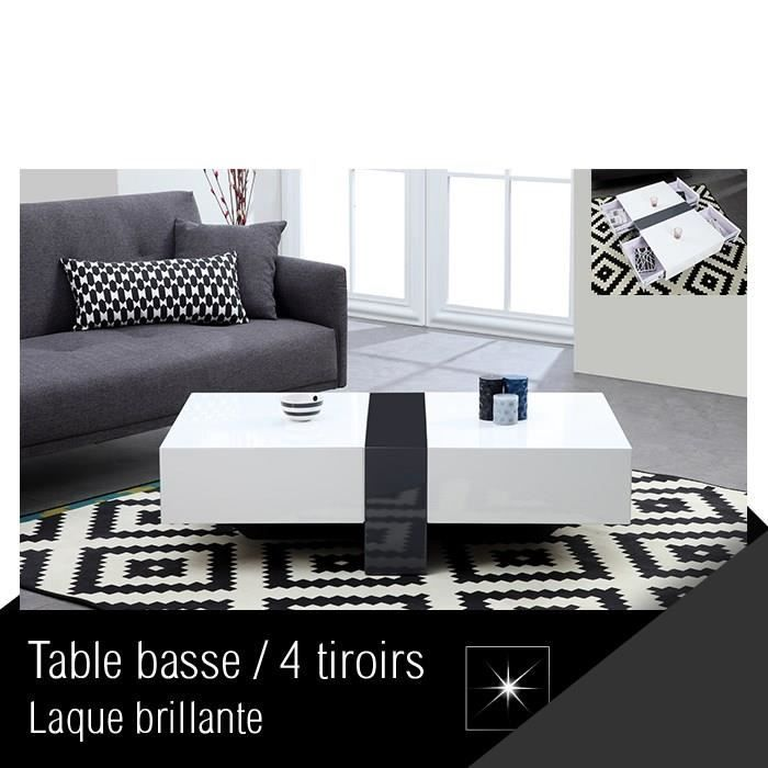 SELECT Table basse 120 cm blanc gris - Achat   Vente table basse - meuble tv home cinema integre watts