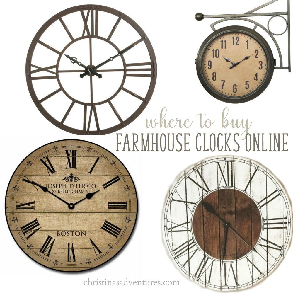 Where To Buy Farmhouse Wall Clocks Farmhouse Wall Clocks Farmhouse Clocks Farmhouse Dining Chairs