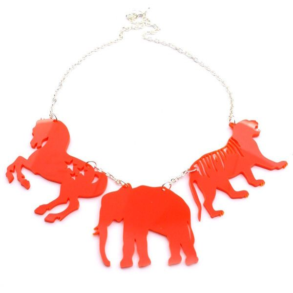 Haberdash House Circus Animals Necklace ❤ liked on Polyvore