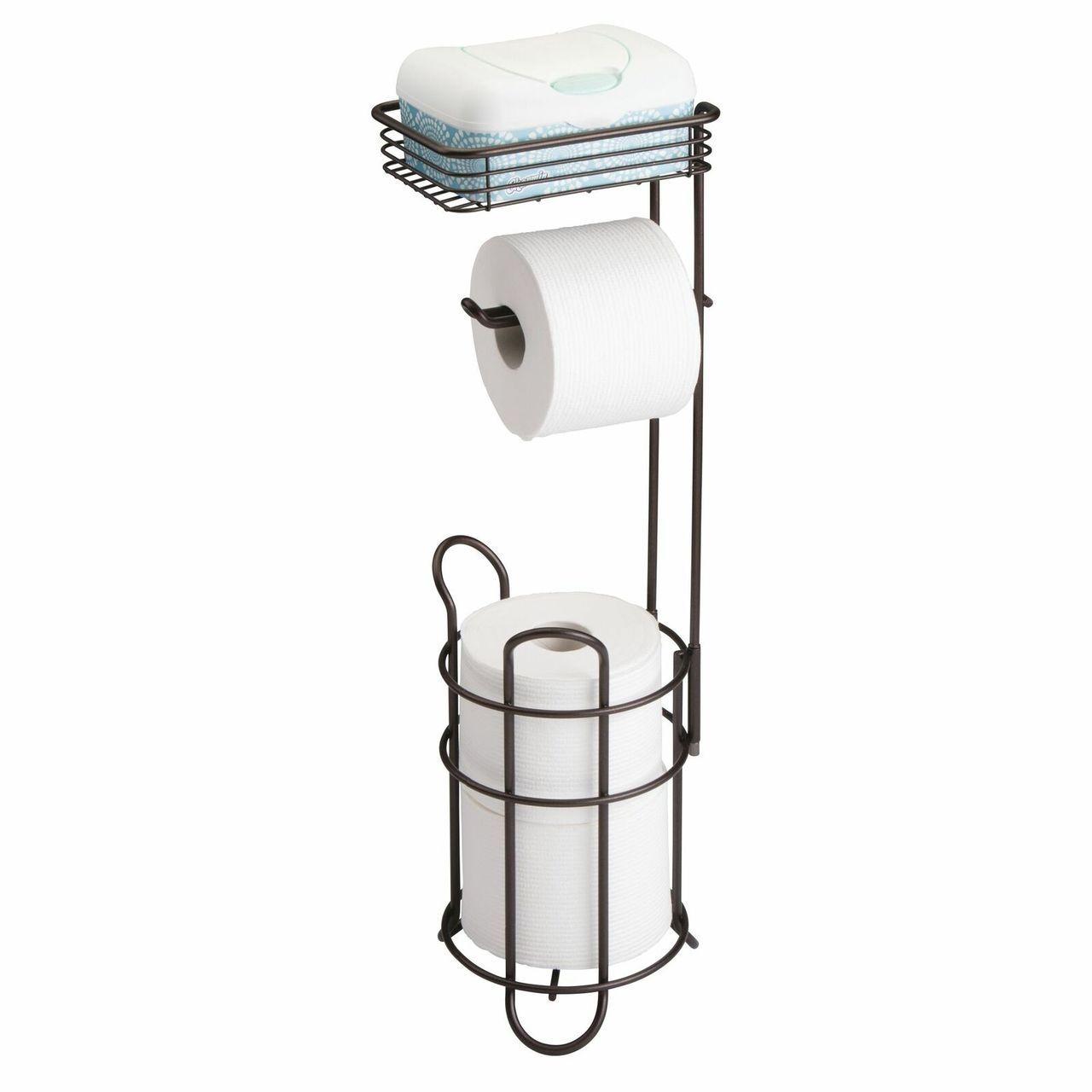 Toilet Tissue Paper Roll Dispenser Storage Shelf Free Standing Toilet Paper Holder Toilet Paper Holder Stand Toilet Paper Holder