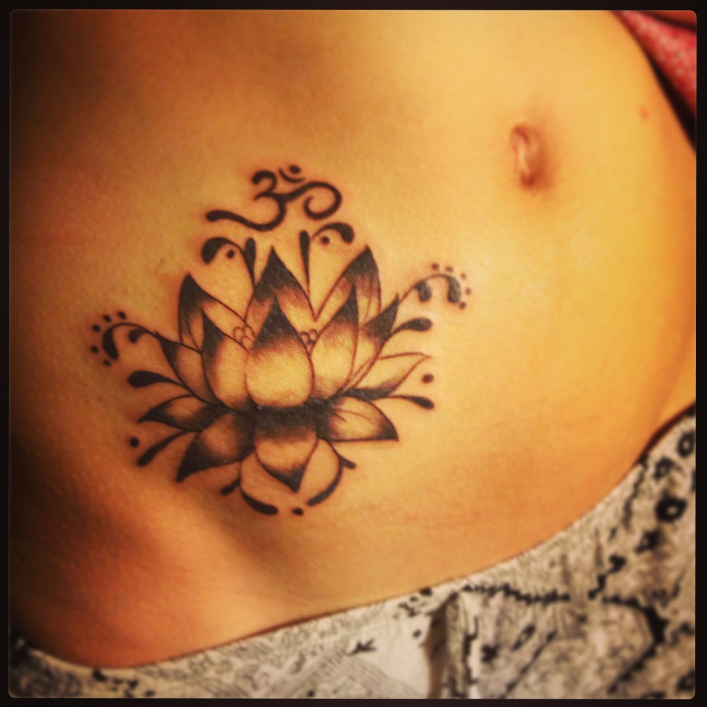 Om symbol and lotus tattoos pinterest om symbol lotus and om om symbol and lotus tattoo idea izmirmasajfo