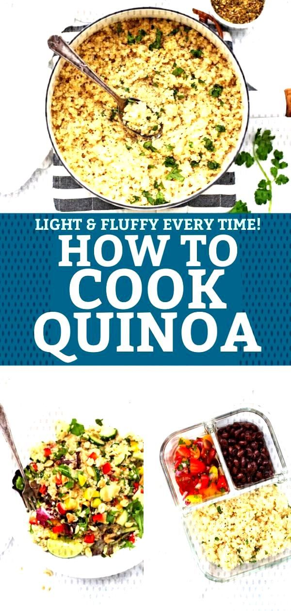 How to Cook Quinoa - This easy stovetop method teaches you how to get perfect, fluffy quinoa every
