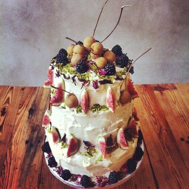 Fresh Fruit cake by Lily Vanilli