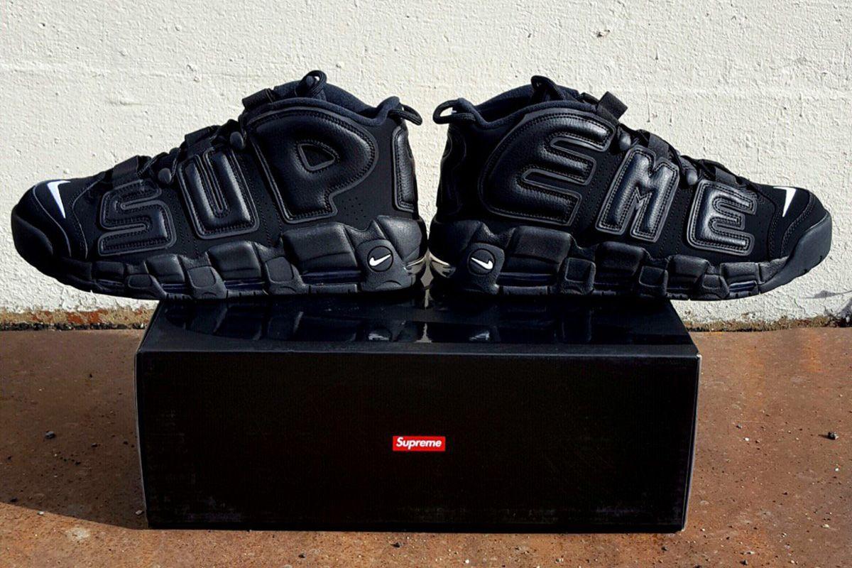 "cheaper d9dde 2b51b Supreme Wraps the Nike Air More Uptempo with ""Supreme"" - EU Kicks Sneaker  Magazine"