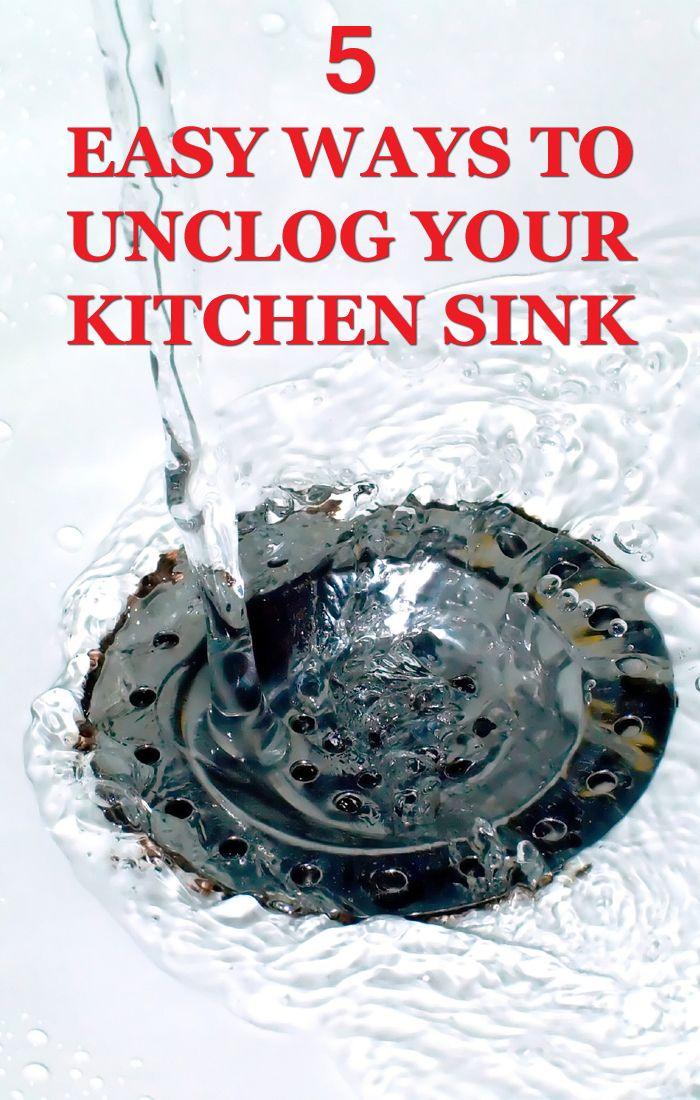 5 Easy Ways To Unclog Your Kitchen Sink Kitchen Sink Clogged Kitchen Sink Unclog Sink Drain